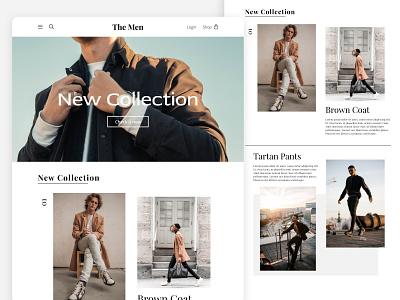 Men Fashion Desktop UI/UX webuiuxdesign web website design webdesign website branding ux ui minimal design