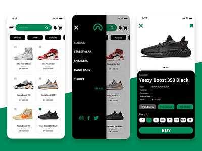 Sneakers Shop - UI/UX Apps application design app uiuxdesign ui design ui  ux uidesign app app design ux ui design