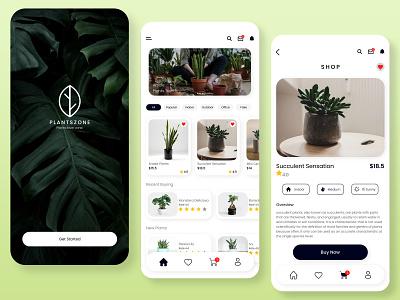 Plant Zone App - UI/UX Project appdesign app design uiux uidesign app uiuxdesign ux minimal ui design