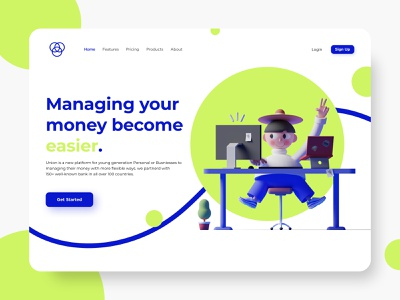 Union Bank Landing Page - UI/UX Project webdesign ui  ux website web uidesign uiuxdesign minimal ux ui design