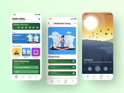 Habbits Tracker - UI/UX Apps Project appdesign app design uiux app uidesign uiuxdesign minimal ux ui design