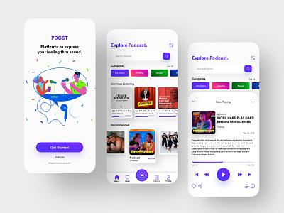 Podcast App - UI/UX Porject app design ui  ux appdesign uiux podcast uiuxdesign uidesign ui minimal ux design