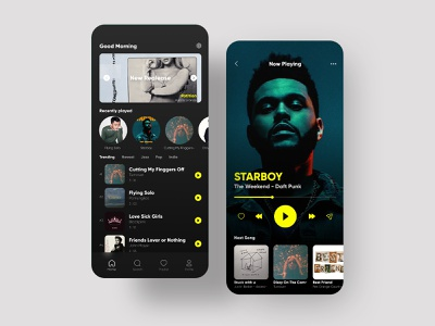 Music Player Apps - UI/UX Project appdesign uiux app design app uiuxdesign uidesign minimal ux ui design