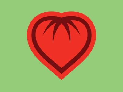 Day 398 brand identity design logo concept brand identity designer love heart fruit logo fruit tomato farmer farmers market logo designer brand design logos graphic design logo design brand identity logo adobe illustrator cc branding adobe illustrator