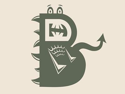 Day 412 flat illustration kids brand identity designer flat design letters logo letters cartoon dinosaurs scales dinosaur logo designer brand design logos graphic design logo design brand identity logo adobe illustrator cc branding adobe illustrator