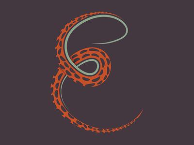 Day 415 illustration monster club texture typography 36daysoftype typogaphy letter creature monster octopus logo designer brand design logos graphic design logo design brand identity logo adobe illustrator cc branding adobe illustrator