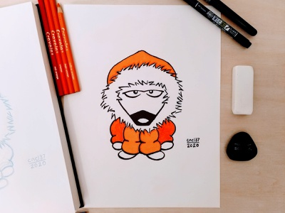 Inktober 2020 - Day 3 - Bulky drawing bulky sketch dog puppy inking ink art inktober2020 inktober