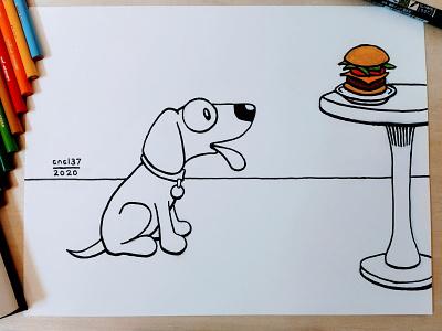 Inktober 2020 - Day 10 - Hope sketch inking ink drawing art puppy dog hope inktober2020 inktober