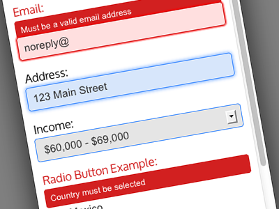 Responsive Sign Up Form - Red, White and Blue responsive sign up form css3 html5 red white blue invalid