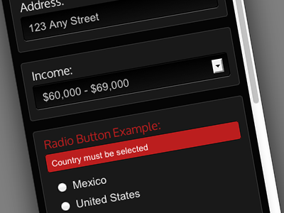 Responsive Sign Up Form - Black, Charcoal, and Red responsive sign up form css3 html5 red black charcoal invalid