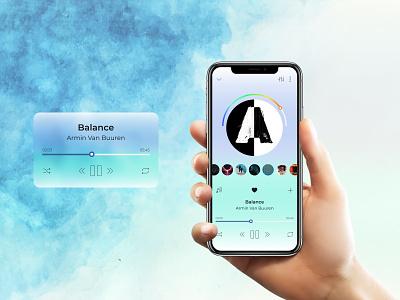 Музыкальный проигрыватель музыка mobile app design webdesign ux ui