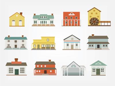 Pioneer Villager Houses