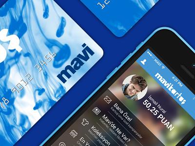 Mavi Kartus loyalty app mobile app ios app blue card iphone