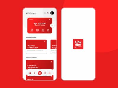 Redesign UI/UX LinkAja graphic design logo illustration flatdesign app branding flat minimal ux ui