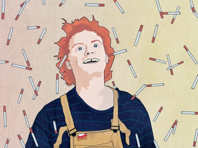 Mac Demarco illustration flat vector orange viceroy smoke music
