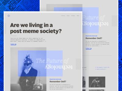 Internet newspaper design website blog web ui monospace newspaper