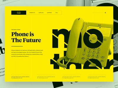 Sisqó Phone sisqó cisco design web ui future poster swiss phone