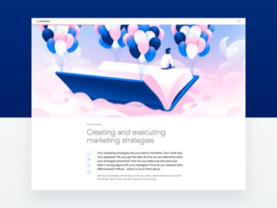Playbook Layout Exploration guide page web ui typography layout illustration marketing website ebook asana