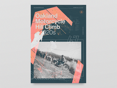 Hill Climb Alternate damn life chains harley texture blackletter hill climb oakland motorcycles layout poster