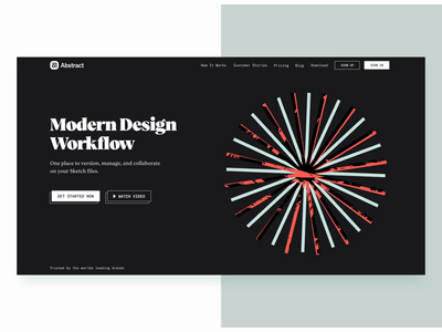 Abstract — Homepage Motion landing page abstract video mp4 prototype animation motion after effects branding texture illustration web typography layout ui