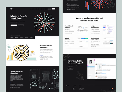 Abstract — Homepage Scroll branding landing page abstract homepage scroll prototype animation texture type design grid illustration web typography layout ui