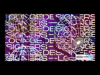 DL Banner layout typography illustration poster grid design type texture