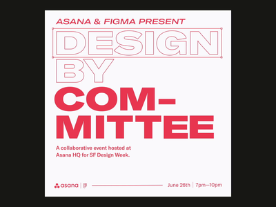 SF Design Week—Design by Committee trash dinosaur grid layout typography stickers figma asana circus sound animation sf design week design week