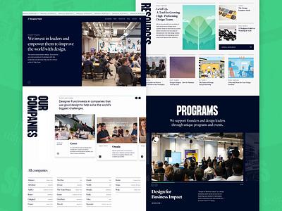 DesignerFund redesign — Homepage landing page designerfund type editorial grid layout typography ui