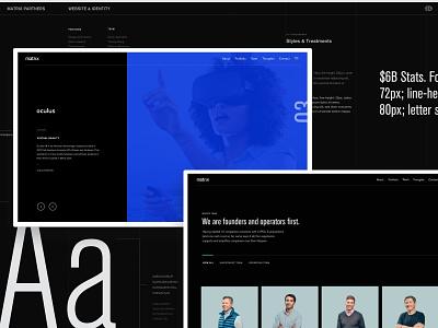 2016 Matrix Partners redesign—Case Study vc casestudy branding type design web layout typography ui animation behance