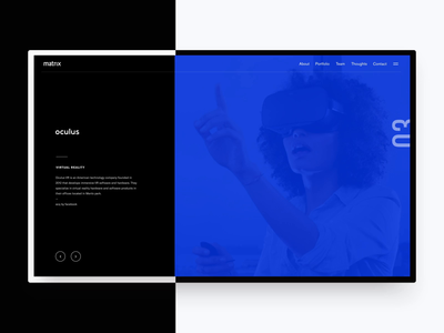 2016 Matrix Partners redesign—Portfolio highlight motion study portfolio interaction animation motion vc branding website type web grid typography layout ui