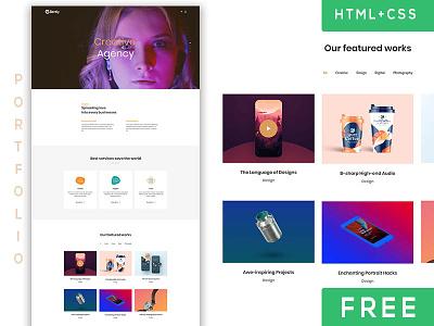 Free Portfolio Template (Bootstrap) portfolio page portfolio blog css html bootstrap commercial freebie template free