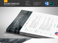 Modern free resume template real pixels
