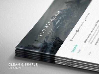 Modern Free Resume Template - A Debut Shot