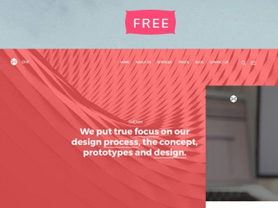 Grit - Free HTML5 Website Template design web portfolio template theme responsive html free css bootstrap blog