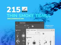 Free Brushes: Thin Smoke Brushes for Photoshop