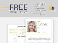 Free Resume Template psd photoshop freebie creative pdf word template skills modern resume cv