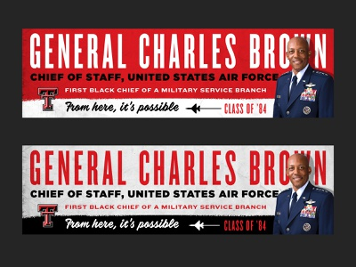 From Here, It's Possible Billboards digital art texture general air force education texas tech branding typography digital billboard