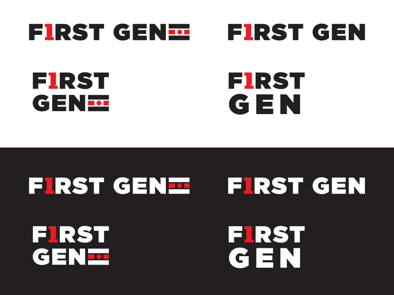 Texas Tech University First Gen logo branding one flag texas tech typography university education logo