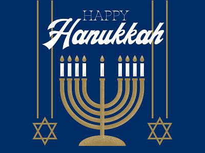 Happy Hanukkah Social graphics star holiday illustration texture flat candle menorah hanukkah social media typography