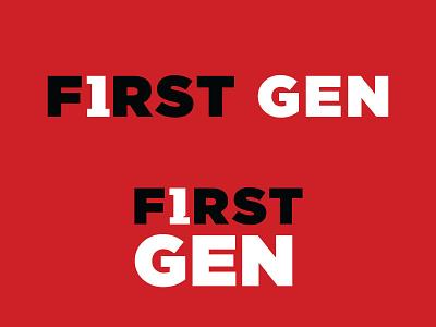Texas Tech University First Gen Logo 2 logotype university college education first gen texas tech branding typography logo