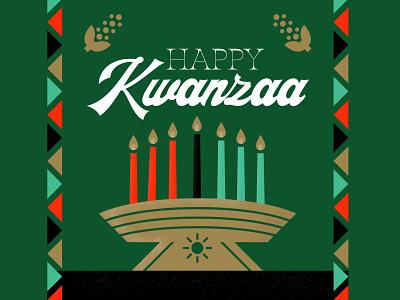 Happy Kwanzaa Social Graphics texture typography illustration african sun candles corn holiday kwanzaa socialmedia