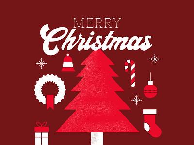 Merry Christmas Social Graphics texture typography illustration candy cane holidays christmas tree christmas social media