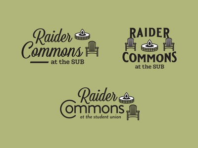 Raider Commons chair fire pit educational university texas tech outdoor education typography logo