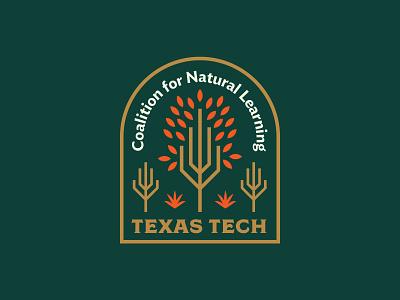 Texas Tech Coalition for Natural Learning plants coalition tree learning education nature typography branding logo