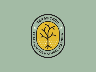 Texas Tech Coalition for Natural Learning learning nature education tree coalition plants typography branding logo