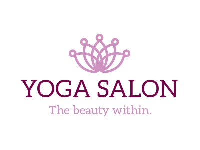 Yoga Salon Logo design logo yoga salon lotus flower crown beauty