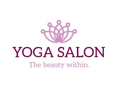 Yoga Salon Logo design logo yoga salon lotus flower crown beauty