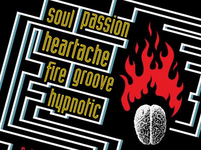 Arma Soul T-shirt Concept flame fire brain maze music typography design
