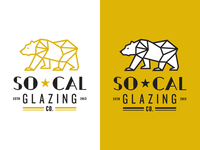 So Cal Glazing Final monoline company glazing star bear california southern logo