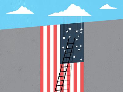 Civil Counterpoints: Immigration & DACA immigrants illegal border daca immigration politics flag america illustration